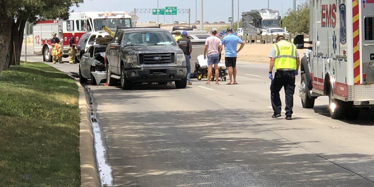 Multiple injuries reported after vehicle flipped on South Loop 289, Friday afternoon