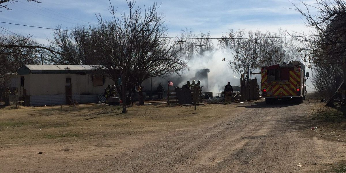 One displaced by mobile home fire at Applegate Shady Acres