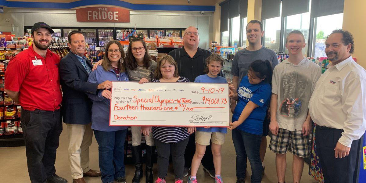 United donates $14,000 to Special Olympics Texas